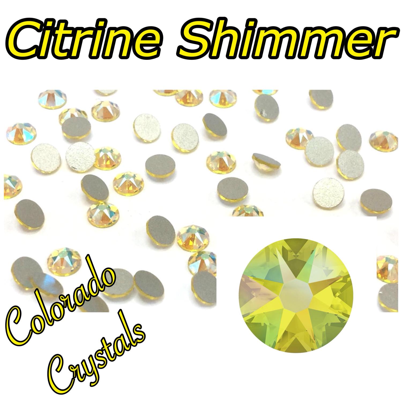 Citrine Shimmer 12ss 2088 Limited Swarovski Yellow Crystals
