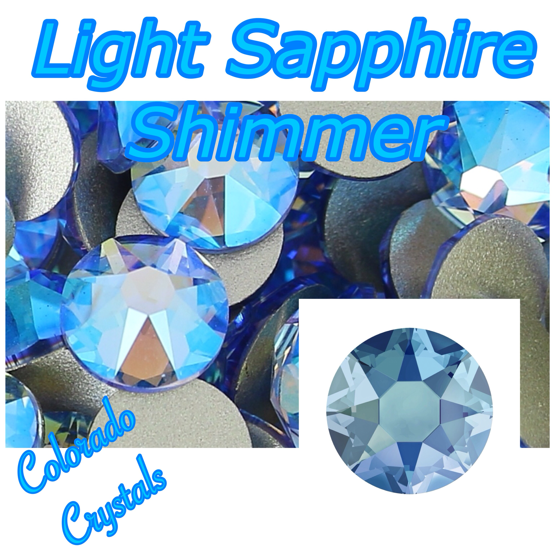 Light Sapphire Shimmer 16ss Limited Swarovski Rhinestones
