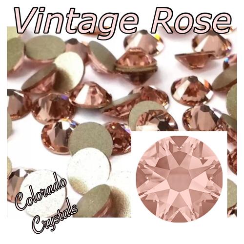 Vintage Rose 5ss 2058 Limited Swarovski Crystals