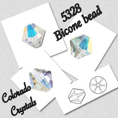 5328 Bicone Bead 5mm - Crystal AB - Swarovski