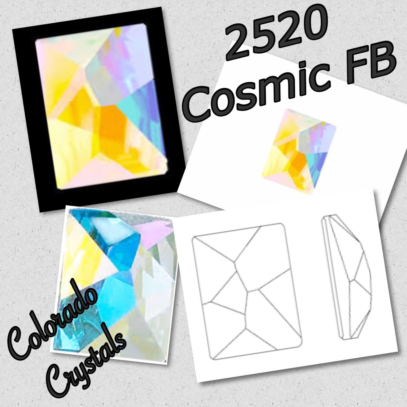 2520 Cosmic Swarovski - Fancy Flatback 14X10 Crystal AB