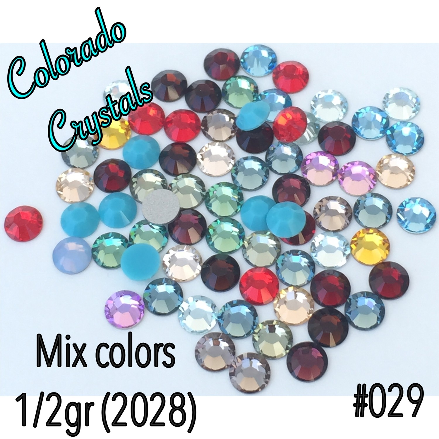 Assorted Colors Swarovski Rhinestones 20ss