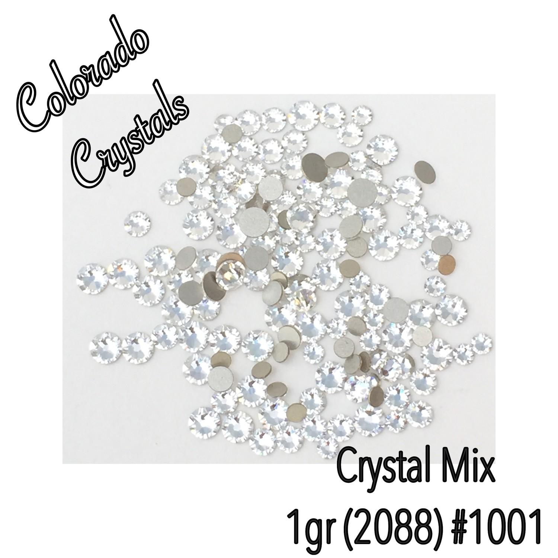 Crystal Assorted size Swarovski flat back Rhinestones 2088