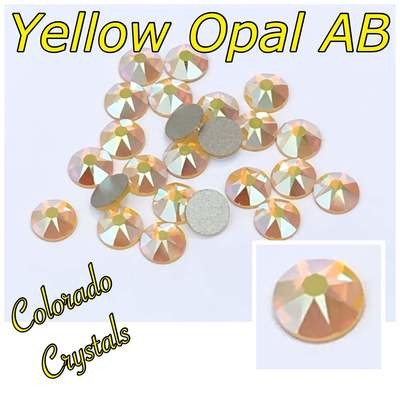 Yellow Opal AB 20ss 2088 Limited Crystals Swarovski