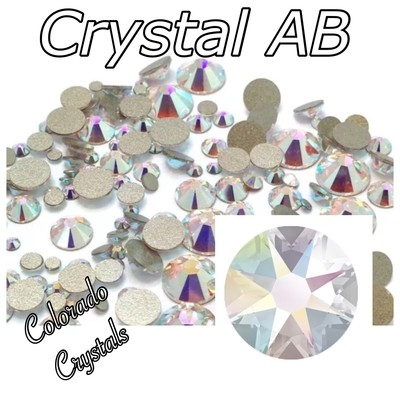 Crystal AB 9ss 2058 Limited Swarovski Elements Foiled