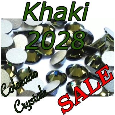 Khaki Closeout Swarovski Rhinestones 16ss