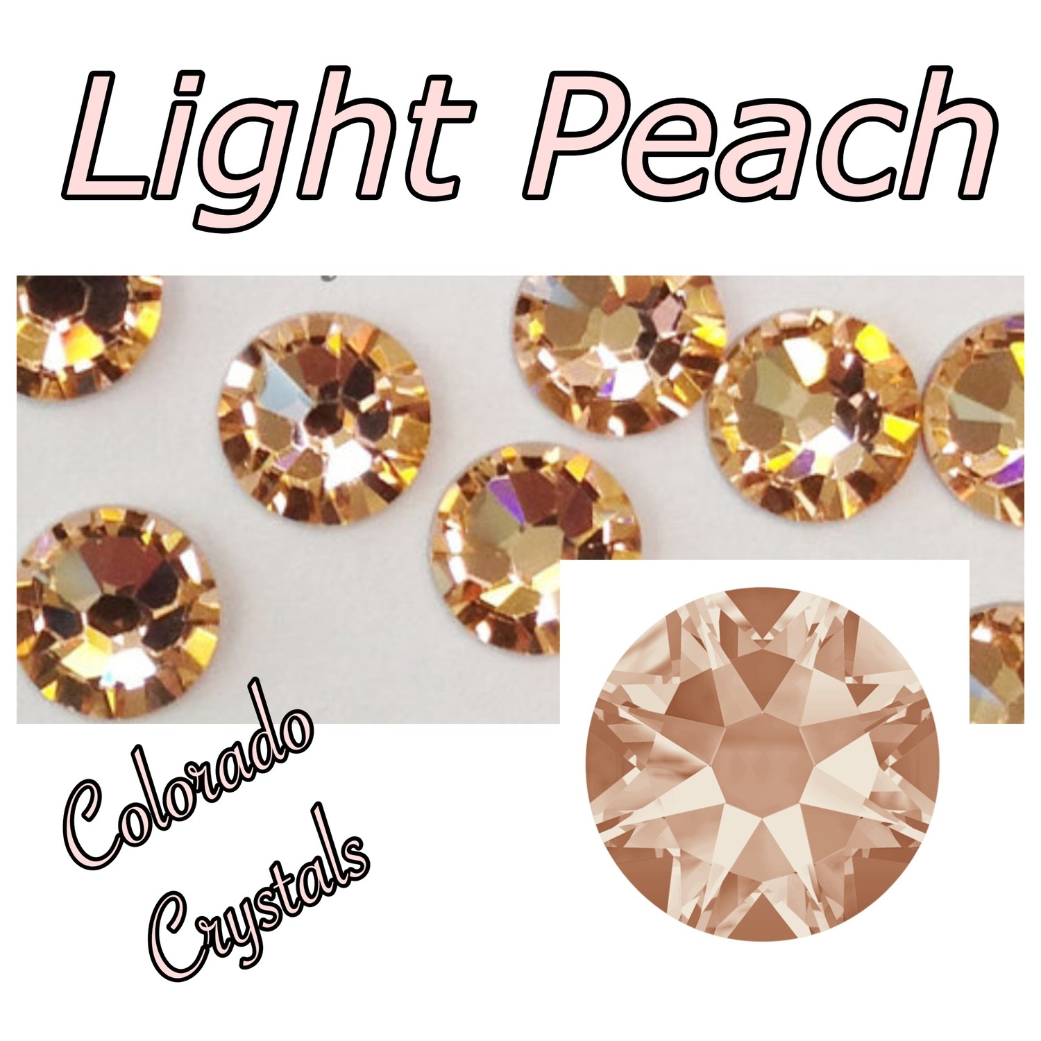 Light Peach 12ss 2058 Price Reduced Swarovski Rhinestones