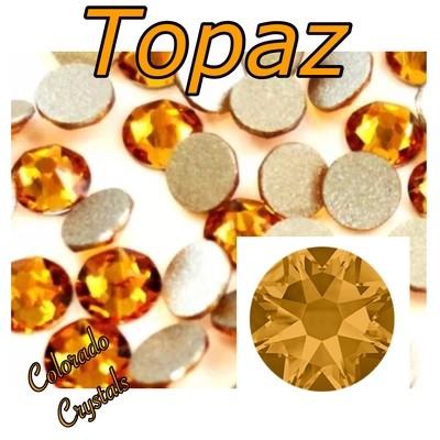 Topaz 12ss 2058 Closeout Swarovski Gold Rhinestones