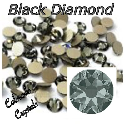 Black Diamond 12ss 2088 Limited Swarovski Flat back Crystals