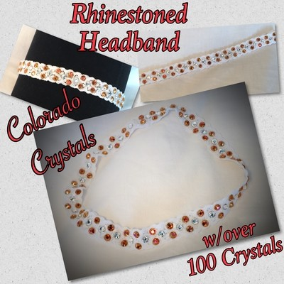 Headband With Swarovski Crystals - stretch