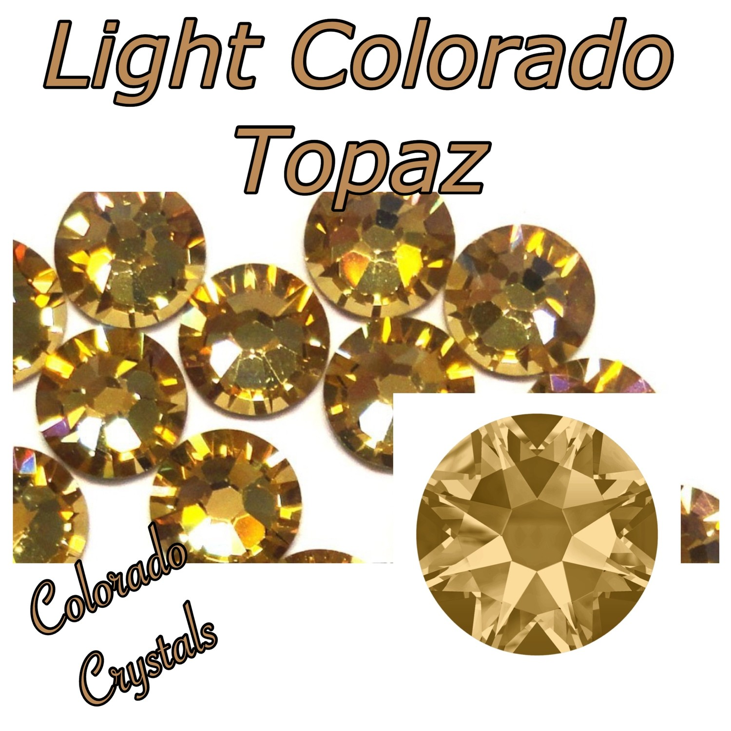 Light Colorado Topaz Discounted Swarovski Nail Art 5ss