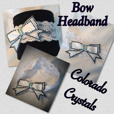 Swarovski Crystal Handcrafted Bow Headband