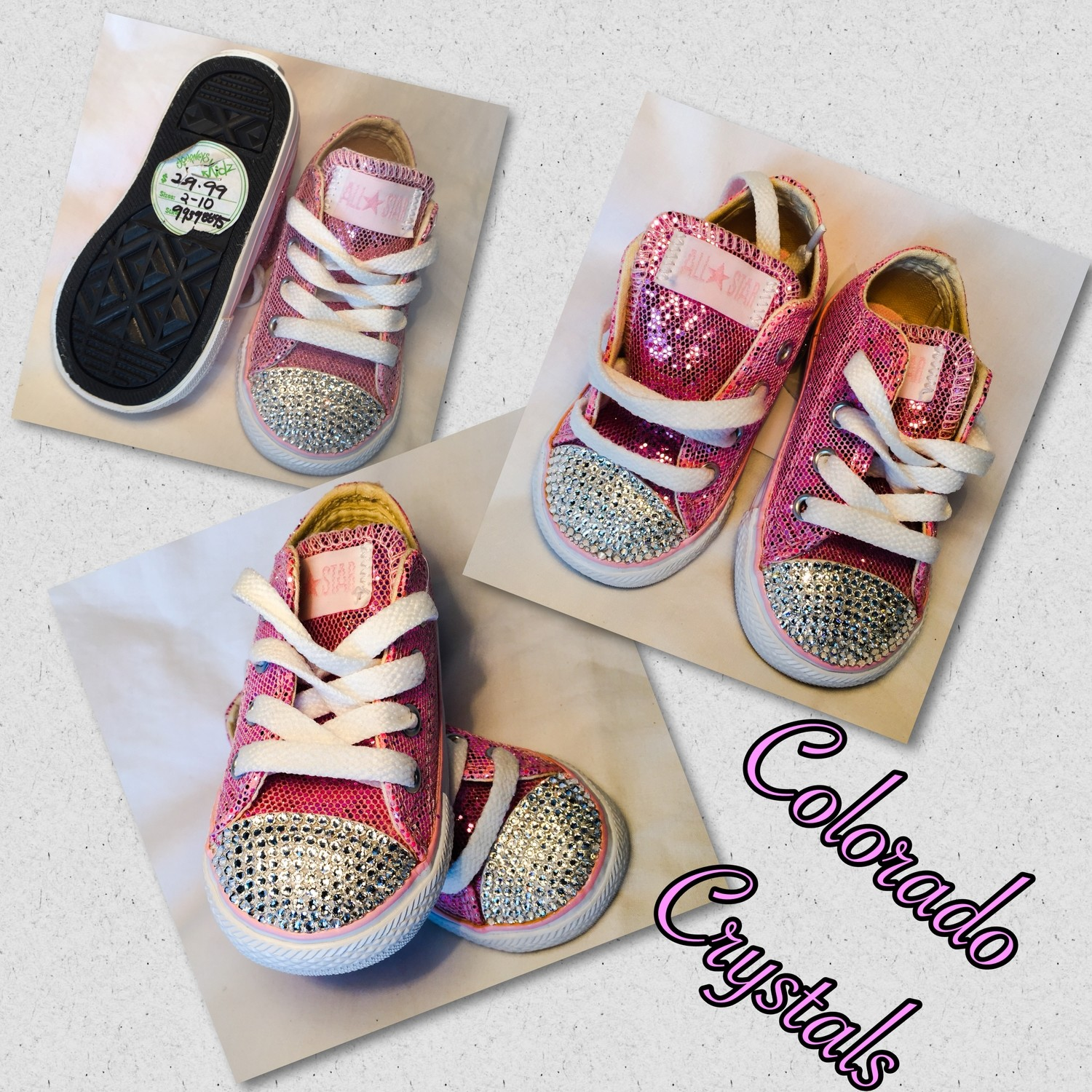 Baby Converse With Swarovski Crystals