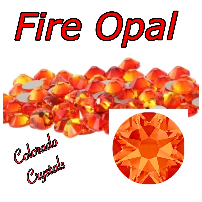 Fire Opal 16ss Limited Swarovski XIRIUS Rose Flat back 2088