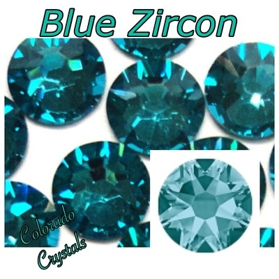 Blue Zircon 5ss 2058 Limited Swarovski Nail Art Size Bling