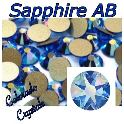 Sapphire AB 5ss 2058 Limited Swarovski Small Blue Crystals
