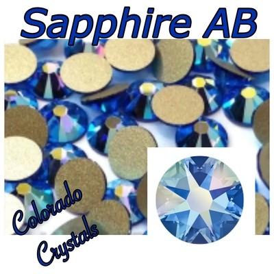 Sapphire AB 7ss 2058 Limited Swarovski Nail Art Size