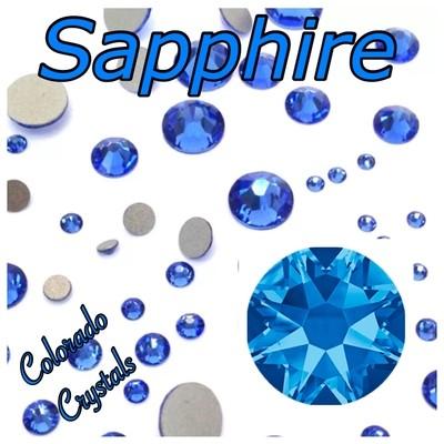 Sapphire 9ss 2058 Limited Swarovski Blue Nail Art Size