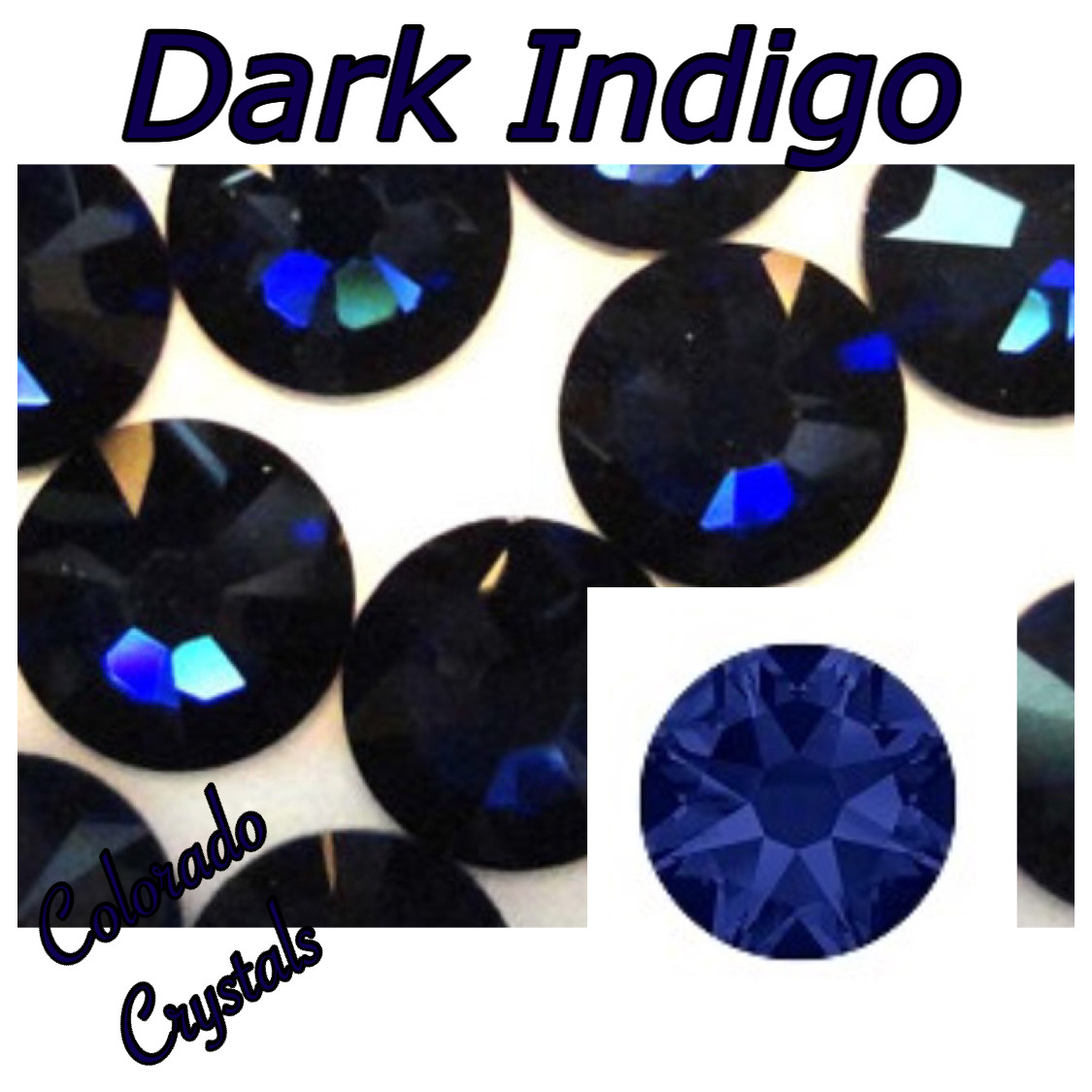 Dark Indigo 9ss 2058 Limited Swarovski Navy Blue Nail Art Bling