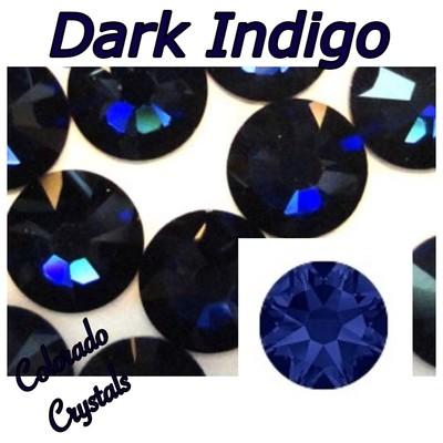 Dark Indigo 9ss 2058 Limited Swarovski Navy Blue Nail Art Bling