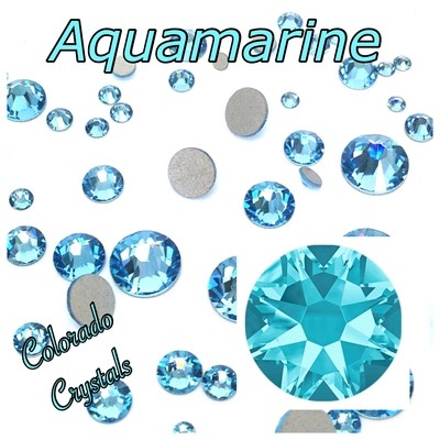 Aqua 20ss (Aquamarine) 2088 Limited Swarovski Blue Crystals