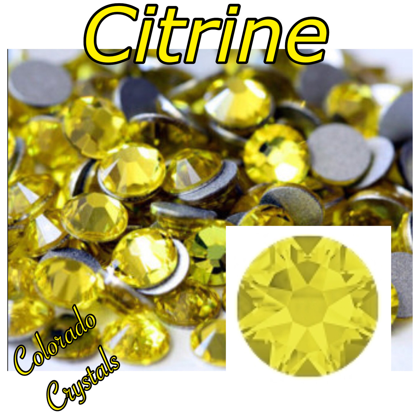 Citrine 20ss 2088 Limited Yellow Rhinestones Swarovski