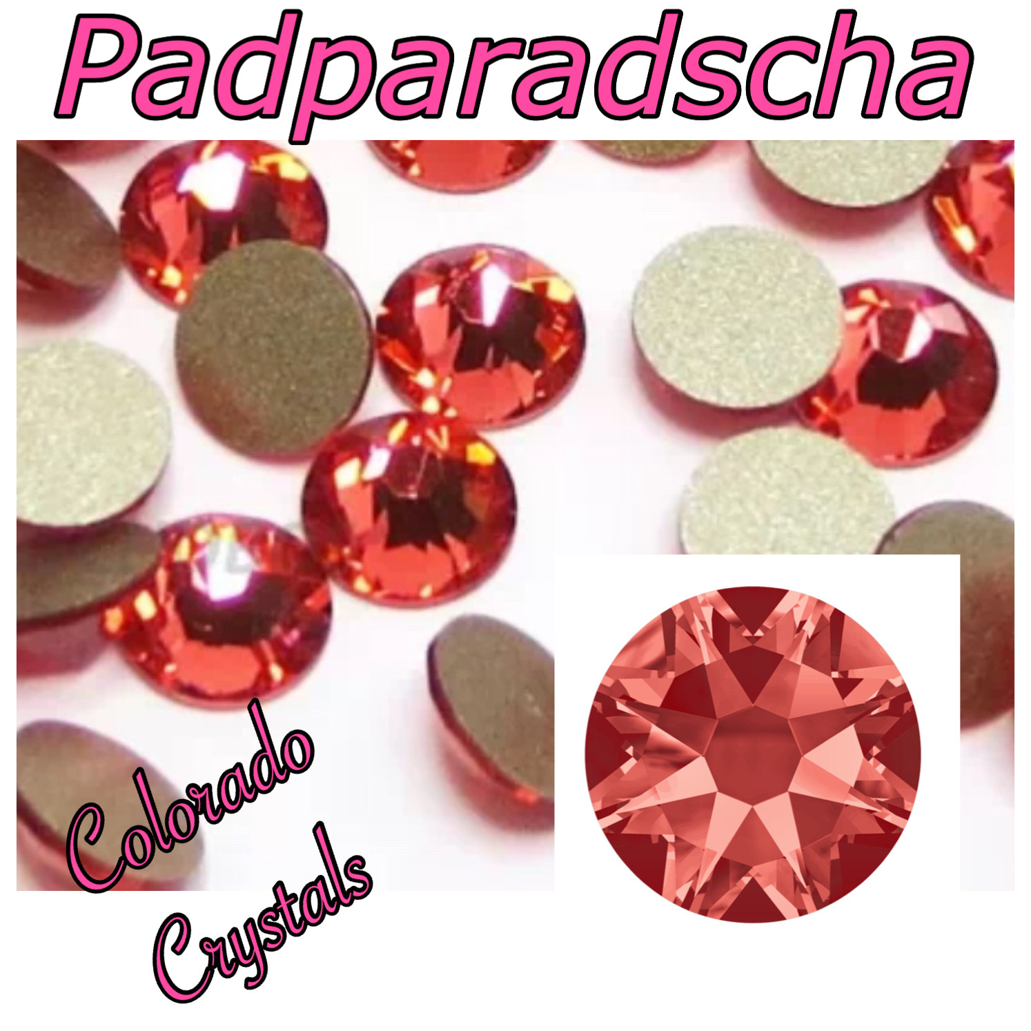Padparadscha 20ss 2088 Limited Swarovski Coral colored crystals
