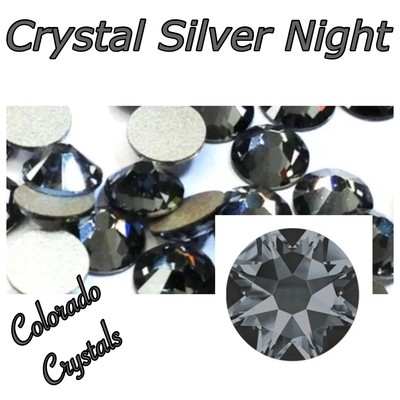 Silver Night (Crystal) 5ss 2058 Limited Nail Art Size