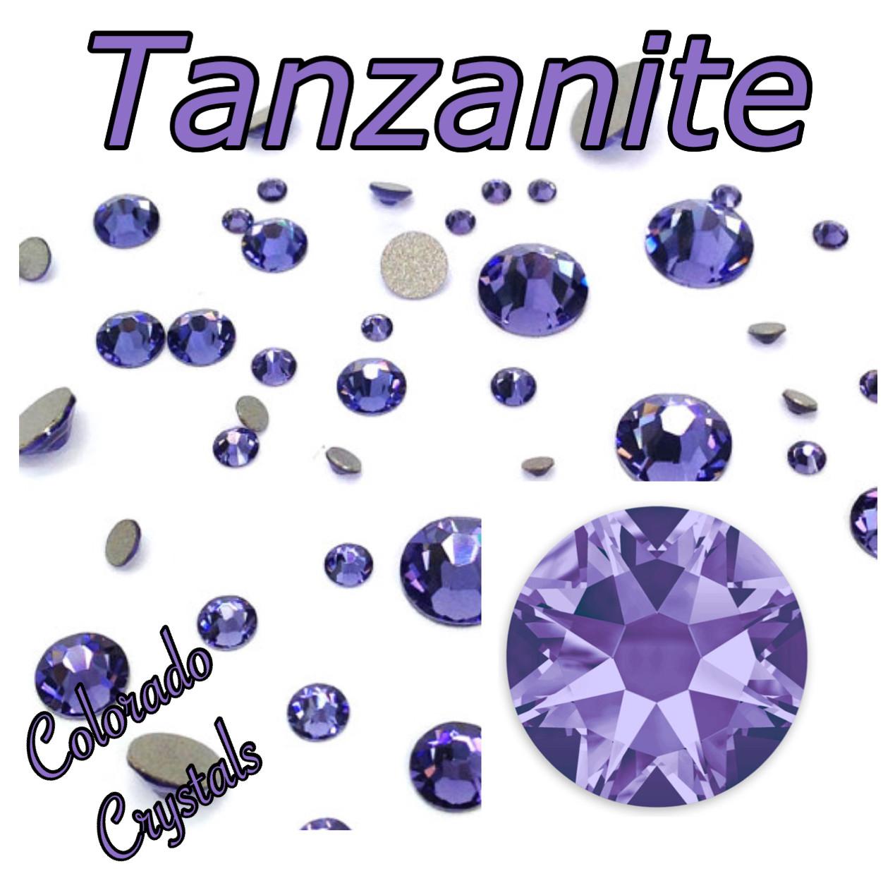 Tanzanite 5ss 2058 Whole Sale Swarovski Nail size Bling