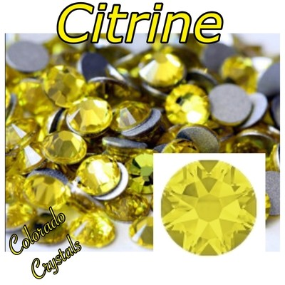 Citrine 9ss 2058 Limited Swarovski Yellow Nail Art Size bling