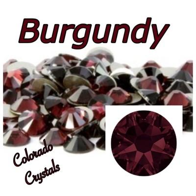 Burgundy 9ss 2058 Limited Swarovski Rhinestones