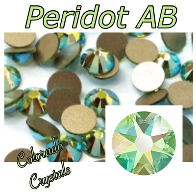 Peridot AB 7ss 2058 Limited Swarovski Green Rhinestones