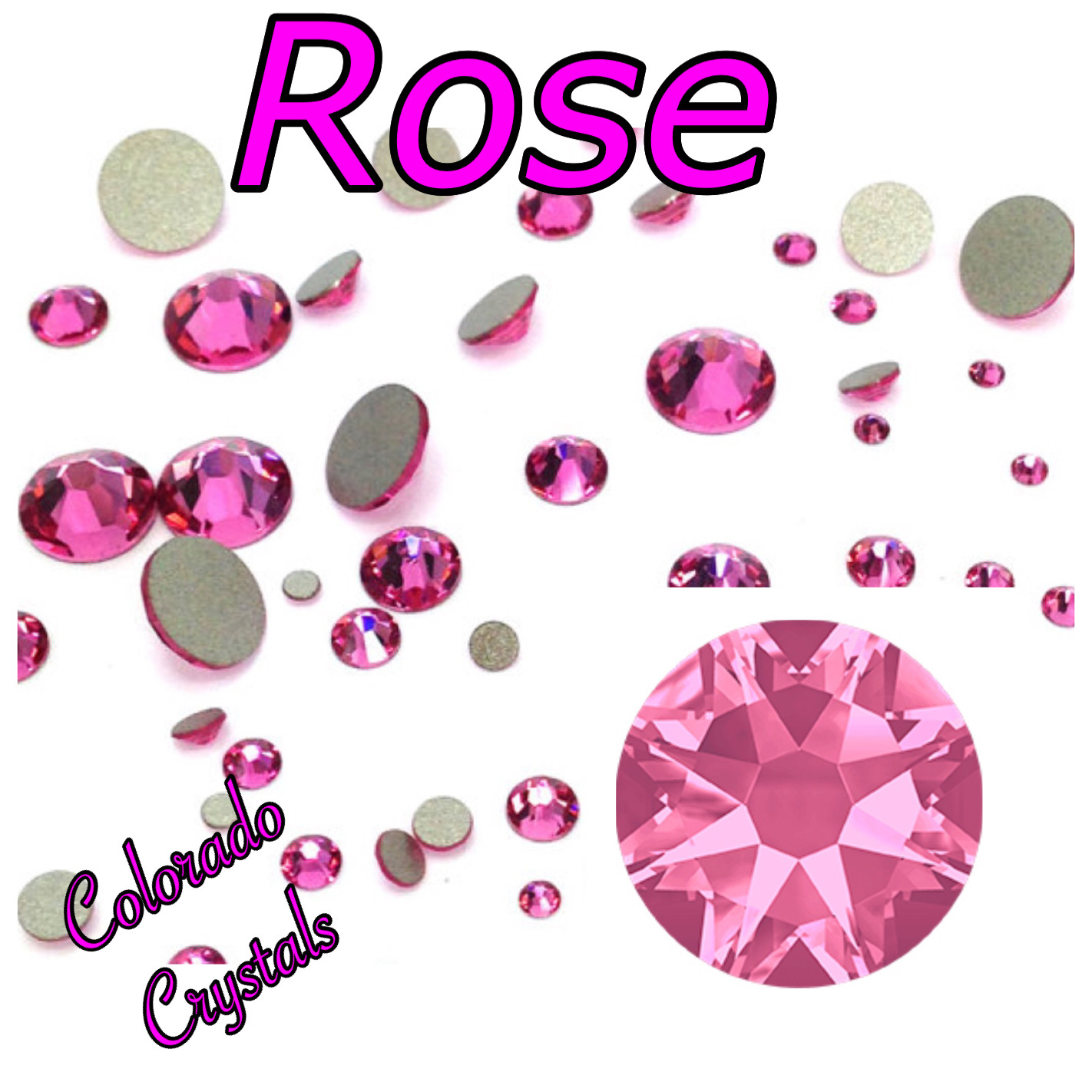Rose 34ss 2088 Limited Swarovski Large round crystals