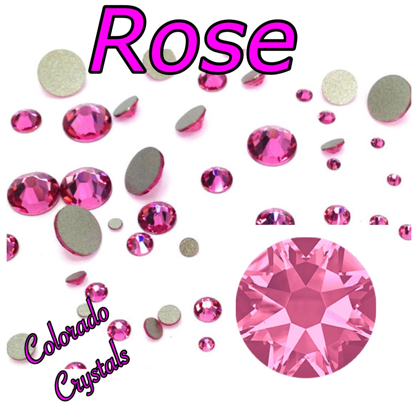 Rose 30ss 2088 Limited Swarovski Pink flat back