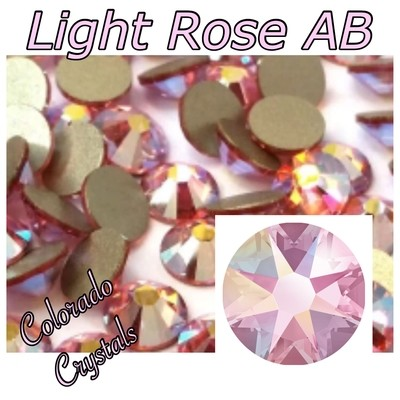 Light Rose AB 12ss 2088 Limited Swarovski Pink AB crystals