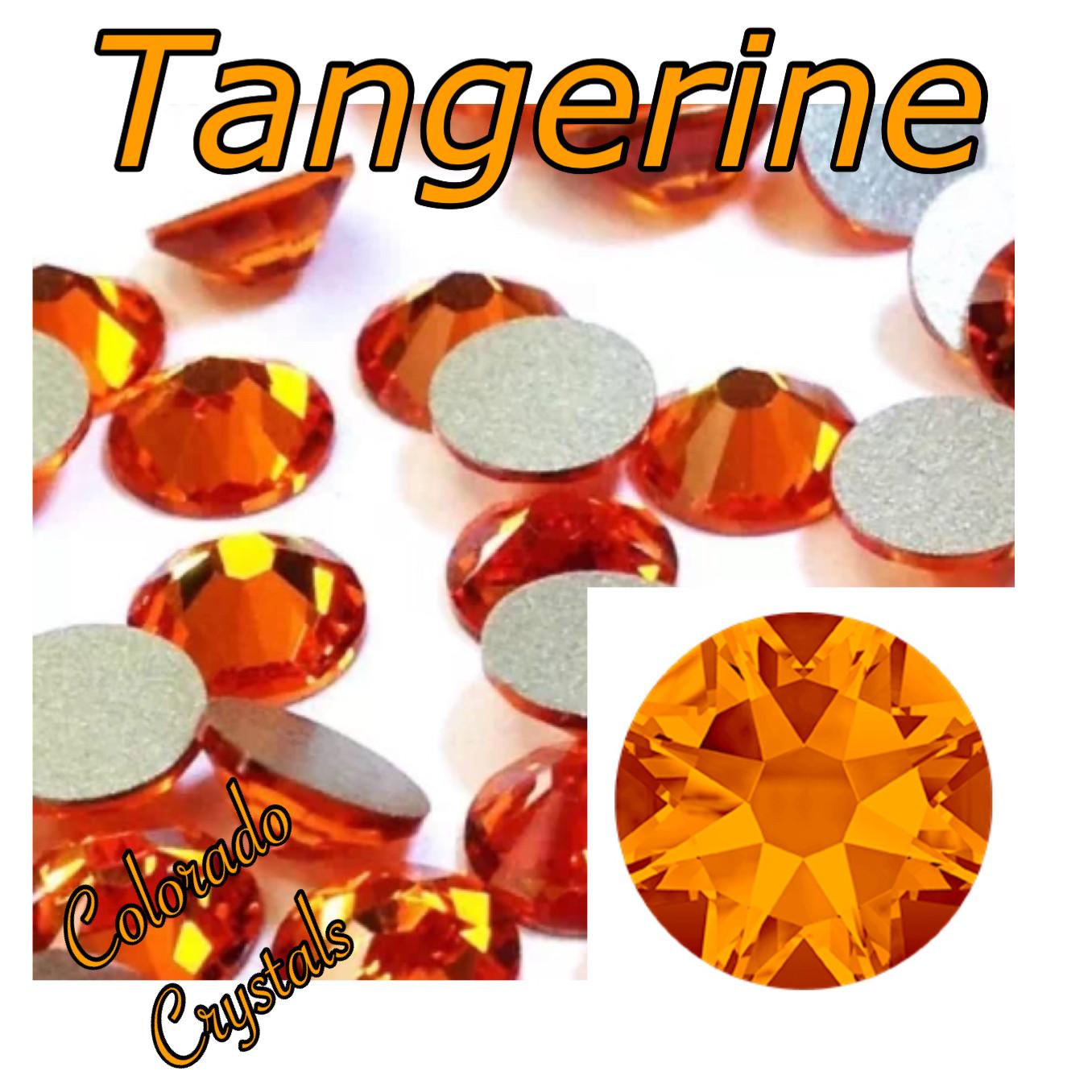 Tangerine 34ss 2088 Limited Swarovski Large flat back