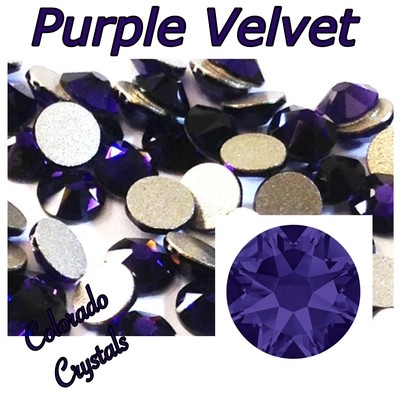 Purple Velvet 5ss 2058 Limited Swarovski Nail Art Size