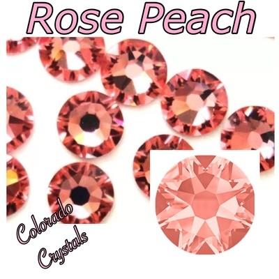Rose Peach 20ss 2088 Swarovski Flat back round crystals