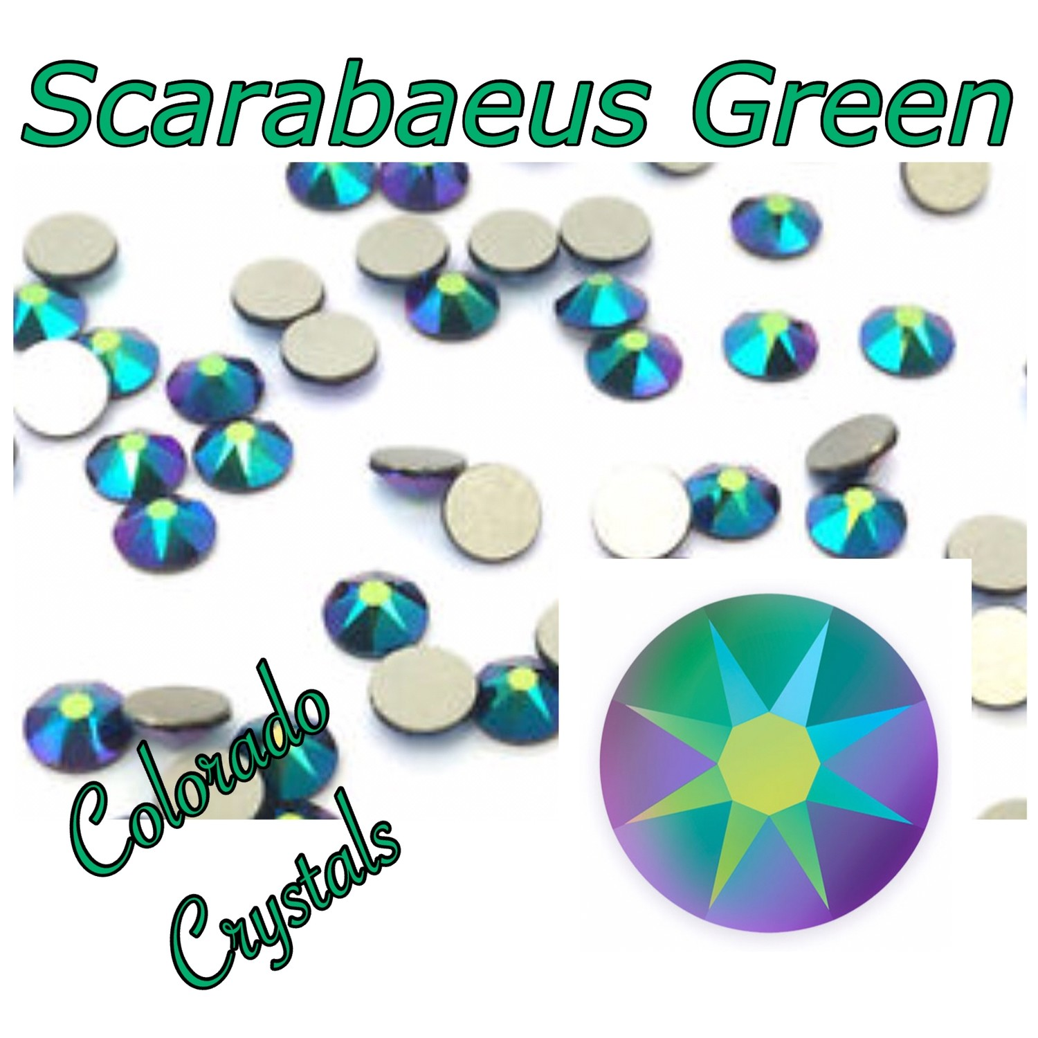 Scarabaeus Green (Crystal) 12s 2088 Limited Swarovski Multi Colored