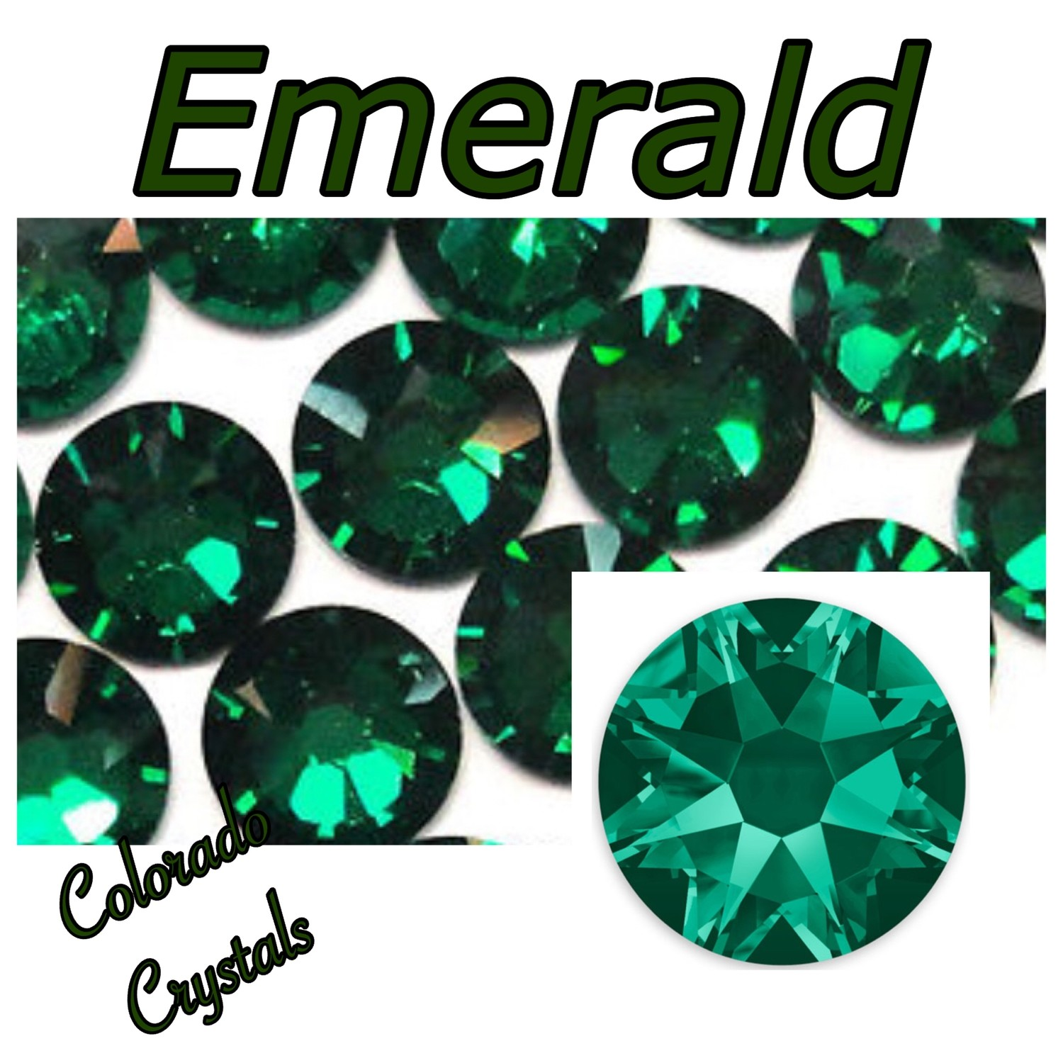 Emerald 5ss 2058 Limited Swarovski Crystals Small round