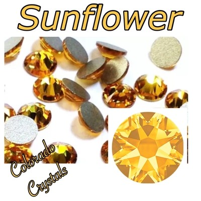 Sunflower 5ss 2058 Limited Swarovski Nail Size Bling