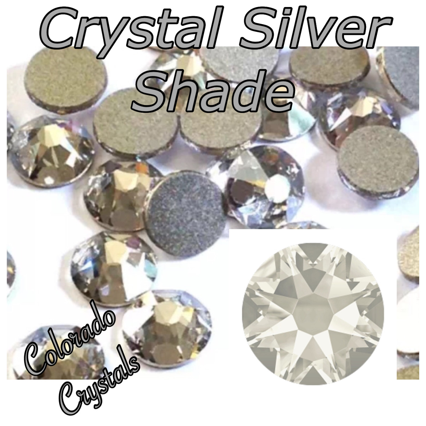 Silver Shade (Crystal) 7ss 2058 Limited Swarovski Xillion