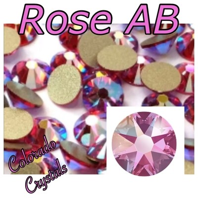 Rose AB 9ss 2058 Limited Swarovski Pink Crystals