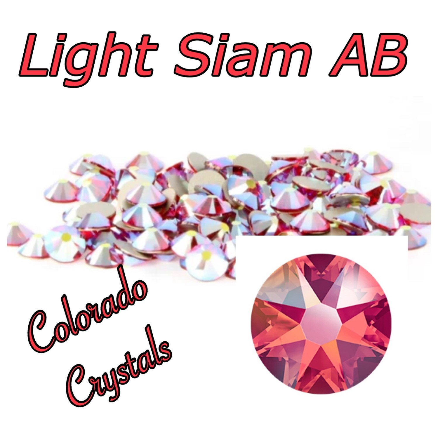 Light Siam AB 12ss 2088 Limited Swarovski Red AB Crystals