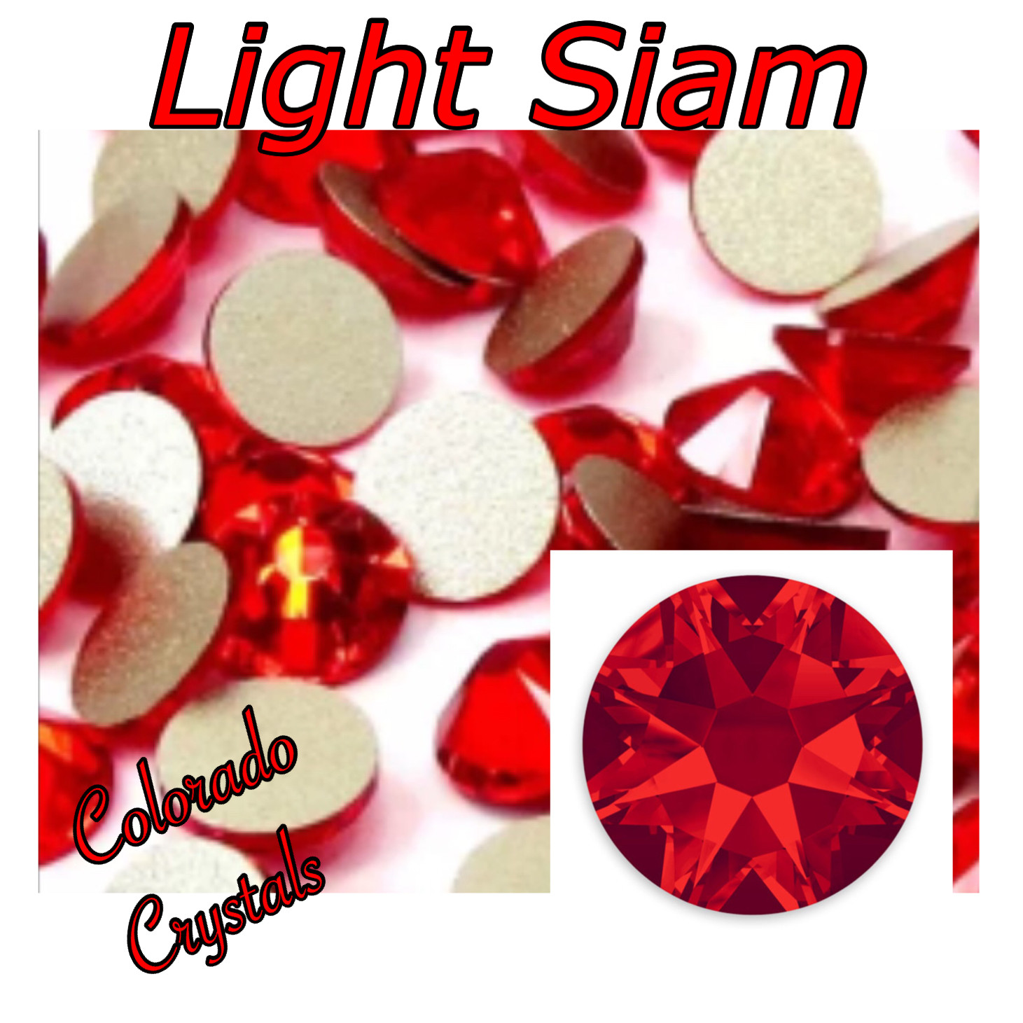 Light Siam 20ss 2088 Limited Swarovski Red Rhinestones