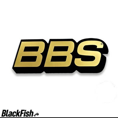 BBS Original USA Large Decal Black / Gold