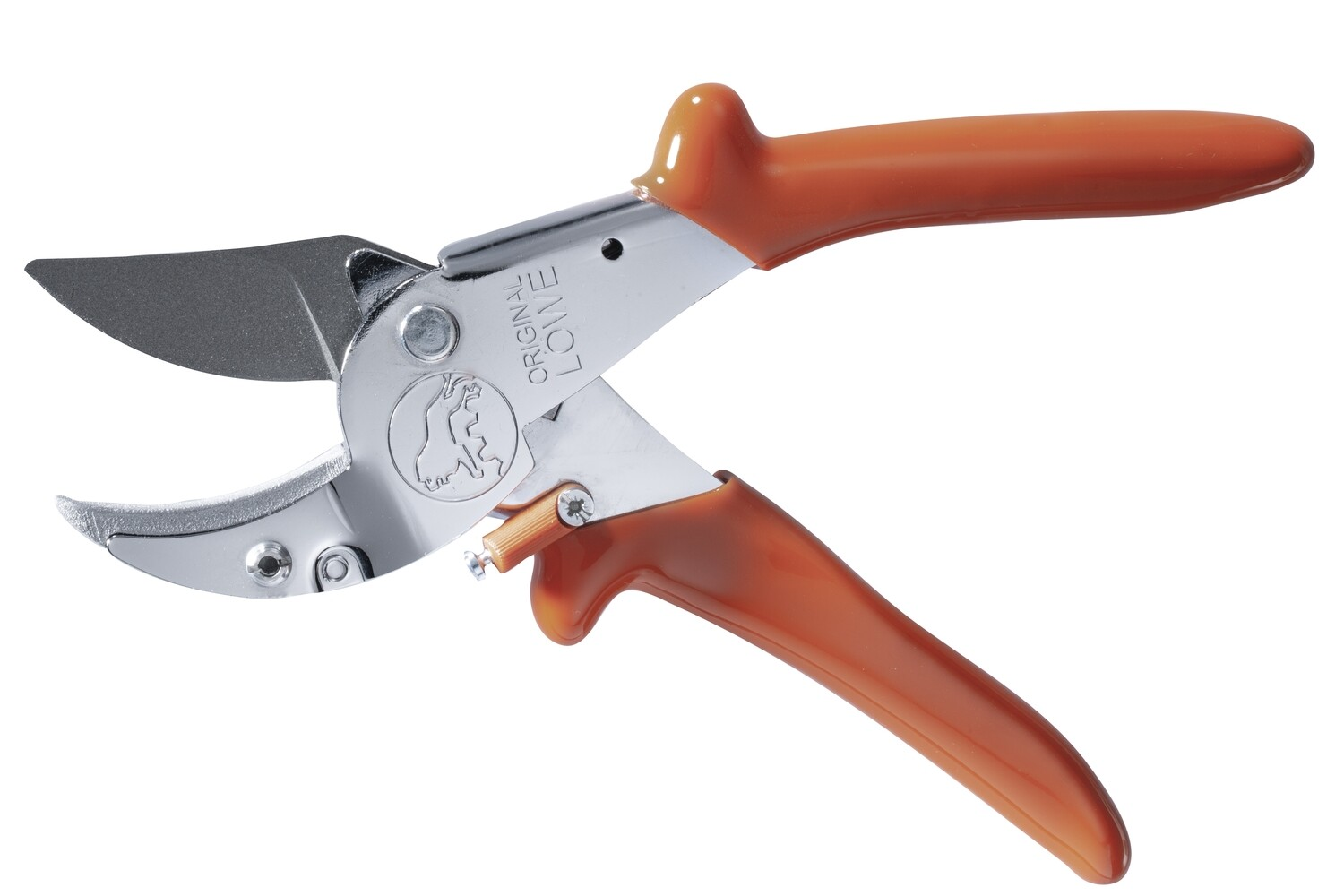 LÖWE 10.107 Anvil/bypass ergonomic pruner with curved blade