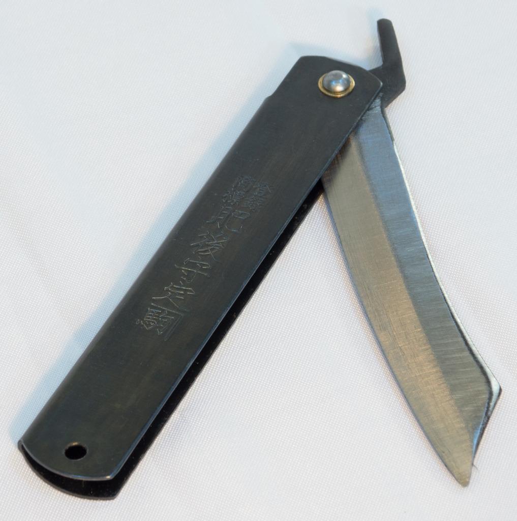 High Carbon Steel HIGO Knife (120mm) — Black Handle GY-HIGO-5