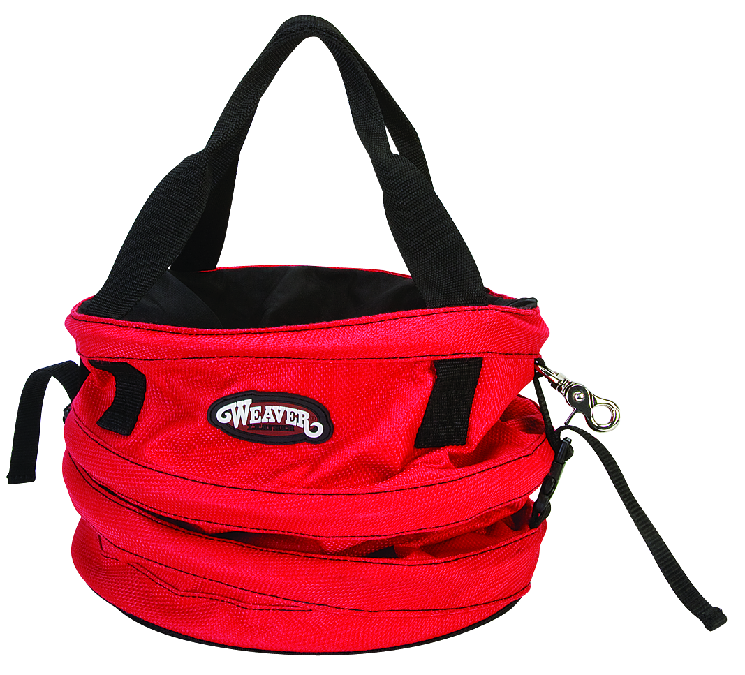 Webbing straps with quick release buckles keep bag collapsed when not in use