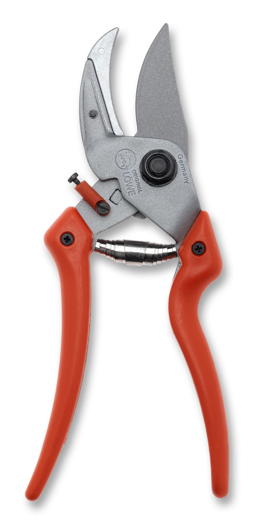 LÖWE 8.107 Anvil ergonomic pruner with curved blade LO-8.107